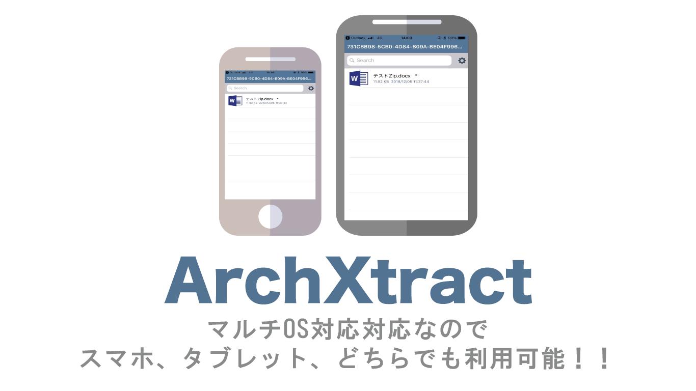 ArchXtract(MDM&MAM対応Zip解凍アプリ)はマルチデバイス対応